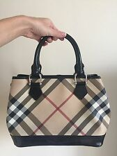AUTHENTIC Burberry Supernova  Black and Beige Tote Bag