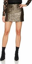 Anthropologie Milly Modern Mini Skirt Gold Sequin 2 NWT