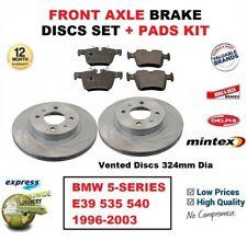 Pour BMW 5-SERIES E39 535 540 1996-2003 Essieu avant Plaquettes + Disques (324mm