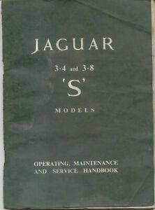 Jaguar S Type 3.4 & 3.8 Litre Original Owners Handbook Pub. E/127/3 SCRUFFY