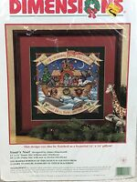 Dimensions 9111 Noah's Noel Needlepoint Kit Christmas Ark Picture or Pillow New