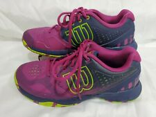 Wilson Women Tennis Sneakers Shoes Pink Navy Lime 8 New