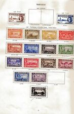 BAHAMAS collection 47 different George VI Stamps 1937-48 Album Page mostly Mint