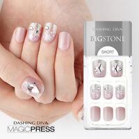 [DASHING DIVA] Magic Press Gel Nail Art Manicure 30 pcs ELLA (BIGSTONE)