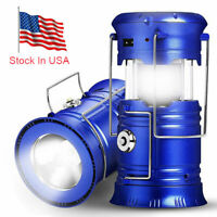 New Solar USB Charging Rechargeable Camping Tent Lantern Light 6 LED Lamp USA