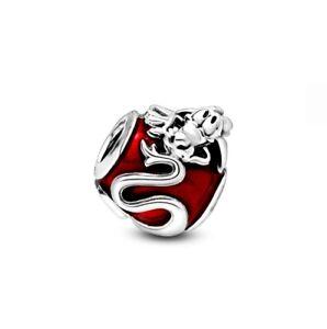 925 Sterling Silver Disney Mulan Mushu Charm Fit European Charm Bracelet