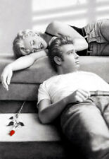 MARILYN MONROE & JAMES DEAN  *  QUALITY CANVAS PRINT