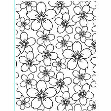 Cherry Blossom Darice Embossing Folder for Cardmaking, Scrapbooking, etc