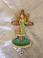 """NEW  """"GUARDIAN ANGEL & CHILD  HOLY WATER FONT"""""""