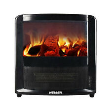 Heller 2000W LED Electric Indoor Fireplace Heater w/ Fire/Flame Effect & Timer