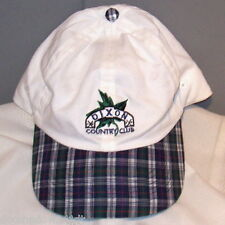 05924a13d78 DIXON Country Club Embroidered White   Blue Green Plaid Ball Cap by  Slazenger