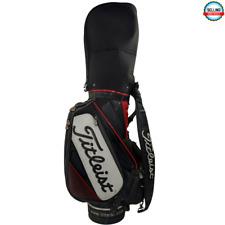 Titleist S83 Staff Bag 6-Way Black Red White  Fair Condition
