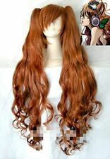 Vocaloid Hatsune Miku Magnet Brown Orange Curly Ponytail Clips Cos Wig