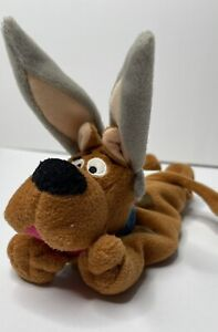 "Warner Bro. Vintage Scooby Doo 10"" Bunny Rabbit Easter Bean Bag SANITIZED"