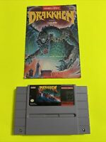 🔥💯 WORKING SUPER NINTENDO SNES GAME CARTRIDGE & INSTRUCTION BOOKLET🔥 DRAKKHEN