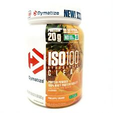 Dymatize ISO-100 CLEAR Hydrolyzed 100% Whey Protein Isolate 20SRV 1.1LB ISO 100