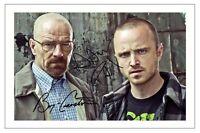 BRYAN CRANSTON & AARON PAUL BREAKING BAD SIGNED PHOTO PRINT AUTOGRAPH