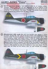 Print Scale Decals 1/72 NAKAJIMA A6M2 A6M3 ZERO Japanese Fighter