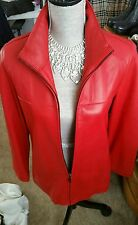 """Red Leather Coat """"TODAY ONLY"""" size  M ... Marc of New York""""!! *****75.00******"""