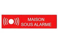 plaque ou etiquette boite aux lettres - MAISON SOUS ALARME - 100x25mm