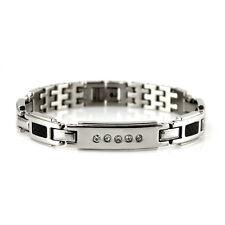 Womens Power Healing Fiber Crystal Magnetic Bracelet Wristband Balance Energy
