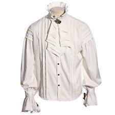 Adult Mens Steampunk Medieval Renaissance Halloween Costume Shirt White S-XL