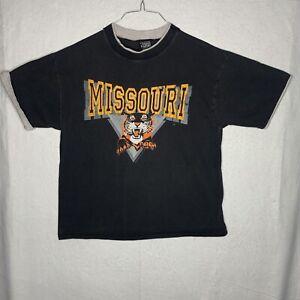 Vintage Missouri Tigers T Shirt Large University of Missouri 80s 90s