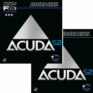 Donic Acuda S2 / DOPPELPACK / Tischtennisbelag / NEU / zum Sonderpreis