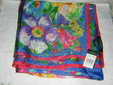 RALPH LAUREN FLORAL MULTICOLOR SILK SCARF ~ NWT