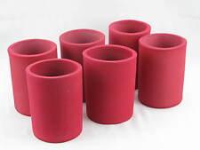 6er Set Getränkekühler 0,33l Dose - Bierkühler - Neoprenkühler - passgenau - rot