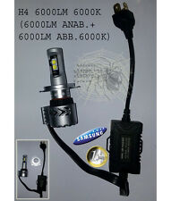 Lampada H4 6000K 6000LM Anabb + 6000LM Abbagl LED CREE SAMSUNG CANBUS