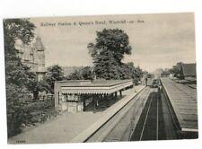 PC WESTCLIFF ON SEA RAILWAY STATION PLATFORMS & QUEENS HOTEL ESSEX c1912