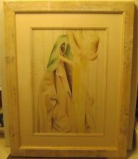 Wonderful Watercolor Still Life COAT RACK Signed & Dated LOVELY Pro Framing!!