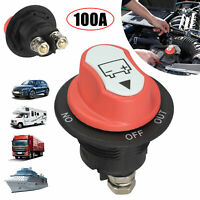 100A 32V Battery Selector Switch Disconnect Rotary Switch Cut Off for Car Boat