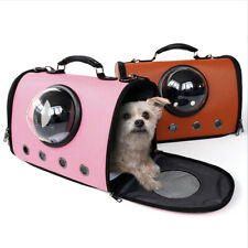 Pet Carrier Tote Bag Travel Shoulder Capsule Sling Bag For Cats Small Dogs Pink