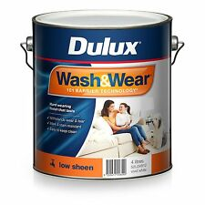 Dulux 4 Litre Wash/wear Low/sheen Interior Factory Vivid-white Colour Paint
