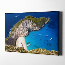 Navagio Strand Griechenland Zakynthos Foto-Leinwand inkl. Keilrahmen / Poster