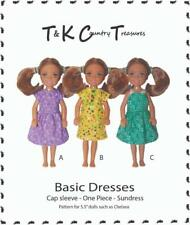 "Sewing Pattern for Chelsea 5.5"" Doll Clothes by TKCT Dresses sundress"