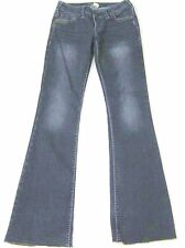 SILVER Jeans **PIONEER** Raw Hems Low Rise Boot Cut SIZE 26 x 32.5
