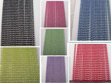 70Yard SS6 A grade clear glass crystal 2mm rhinestone lot color plastic chain