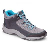 Vionic Cypress Water Resistant Hiking Boots Orthotics Gray Teal MSRP $140 NEW