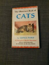 The Observer's Book Of Cats - 1959. Hardback With Jacket.
