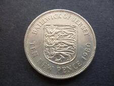 Jersey Dieci Pence Moneta 1980, Rame-Nichel 1980 Jersey 10P Oggetto