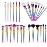 10pcs Kabuki Professional Make up Brushes Set Makeup Foundation Blusher Powder