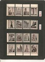 USA 1920 New York City Poster Stamps Set of 16 MNH