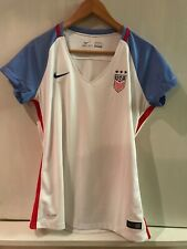 2016 Nike Usa United States Womens Large L Home Soccer White Jersey