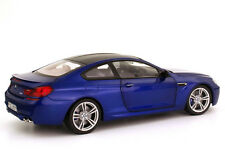 Model Car; 2012 BMW M6 Coupe  (F13) Metallic Blue  1:18 scale  80432218737