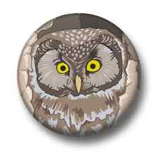 Owl 1 Inch / 25mm Pin Button Badge Owls Birds of Prey Twit Twoo Cute Animals Fun
