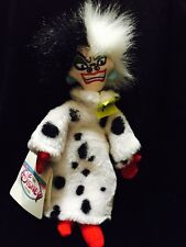 "Disney 101 Dalmatians Cruella 9"" Bean Bag Plush Toy"