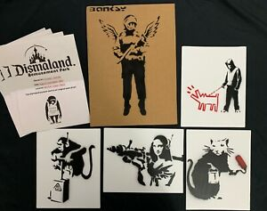 Banksy Dismaland Original  spray stencil Souvenir paintings